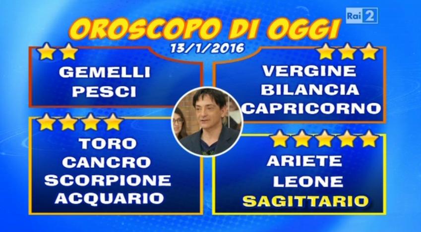 Oroscopo 13 gennaio 2016