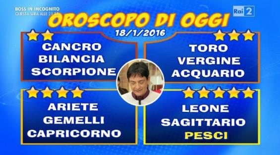 Oroscopo 18 gennaio 2016
