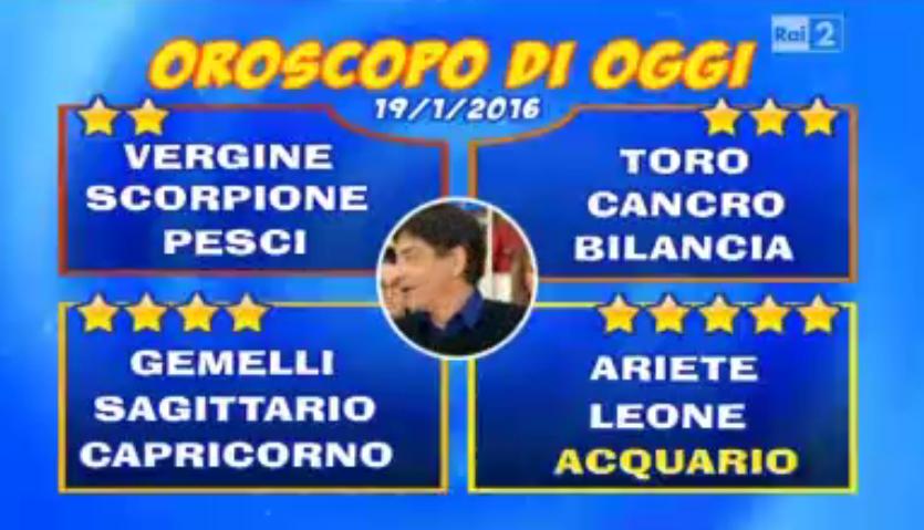 Oroscopo 19 gennaio 2016