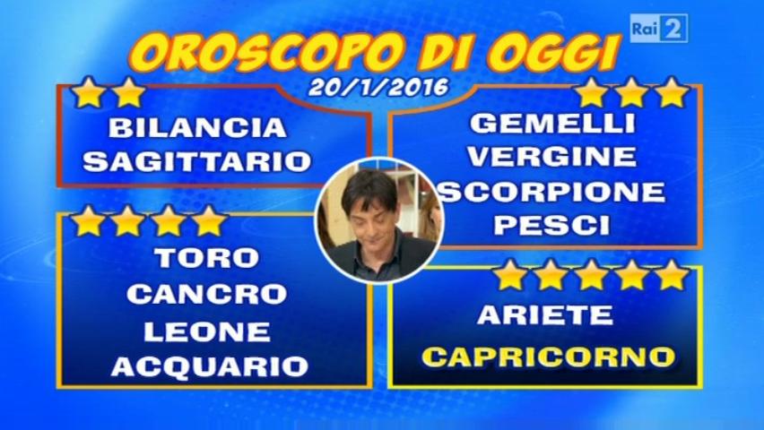 Oroscopo 20 gennaio 2016