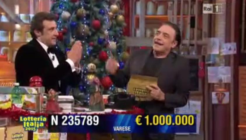 Quarto premio Lotteria Italia 1 mln di euro
