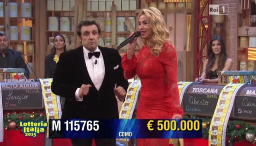 Quinto premio Lotteria Italia da 500.000 euro
