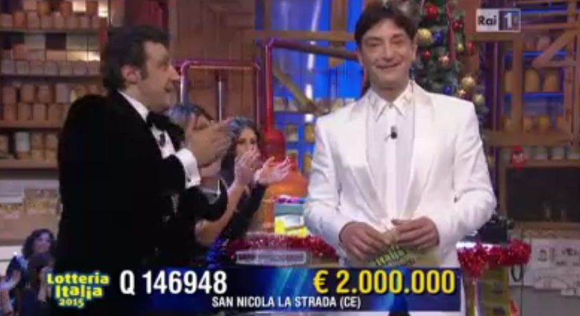Secondo premio Lotteria Italia 2.000.000 euro