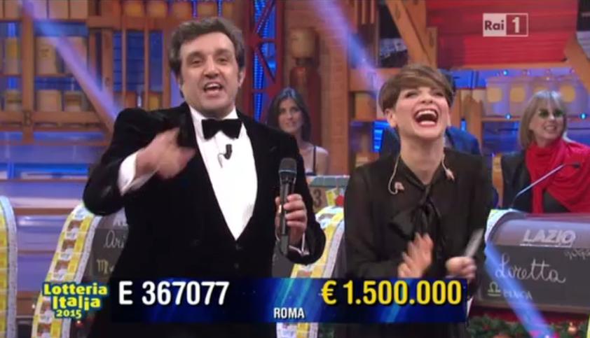 Terzo premio Lotteria Italia 2015, 1.500.000 euro