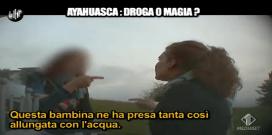 ayahuasca data a una bambina