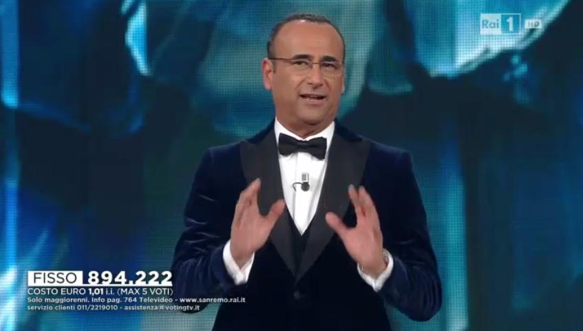 Carlo Conti annuncia Lorenzo Fragola