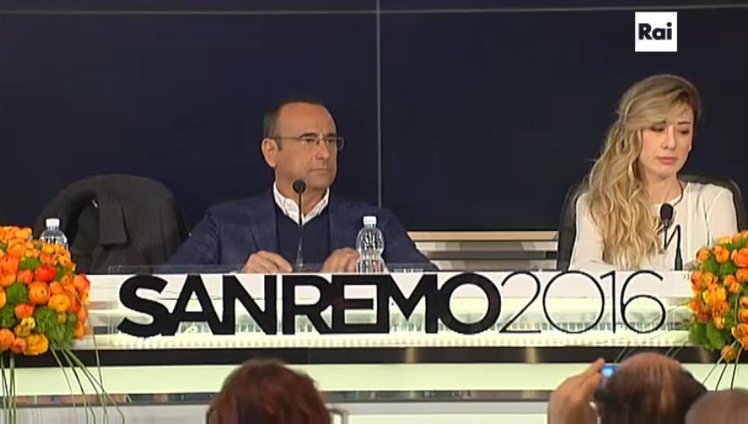 Carlo Conti, conferenza stampa