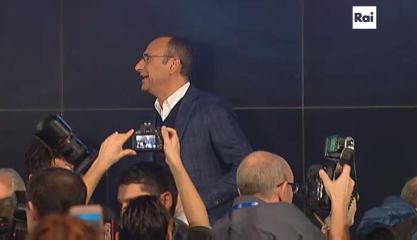 Carlo Conti in conferenza stampa