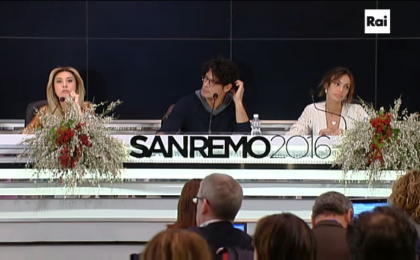 Sanremo: conferenza stampa 13 febbraio 2016 [DIRETTA LIVE]
