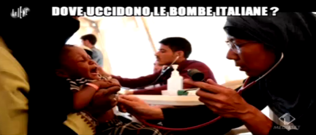 Dino Giarrusso, armi italiane vendute per bombardarmenti stranieri