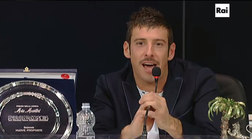 Francesco Gabbani in conferenza stampa