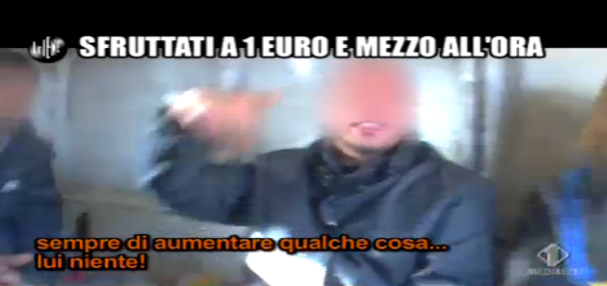 Luigi Pelazza, lavoro sottopagato