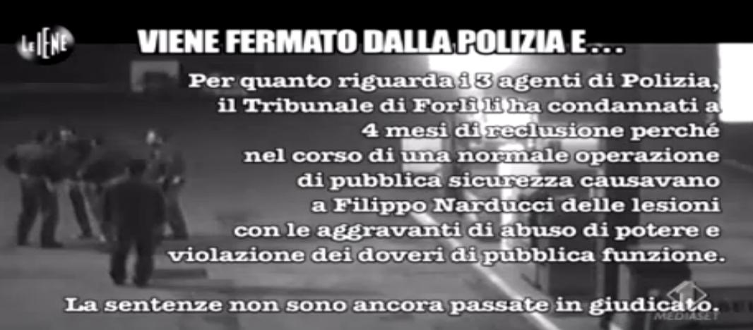 Matteo Viviani, una sera con la polizia
