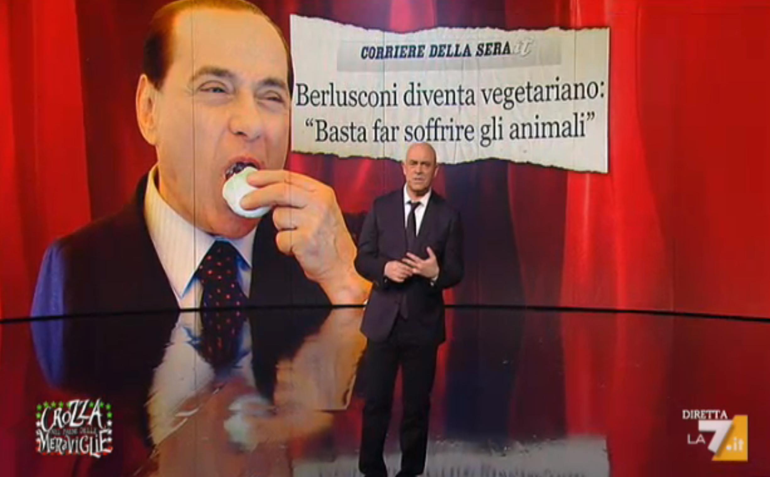 Maurizio Crozza nella puntata di venerdì 26 febbraio