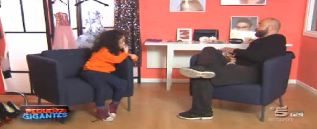 Maurizio Zamboni e Clarissa e nel camerino di Belen