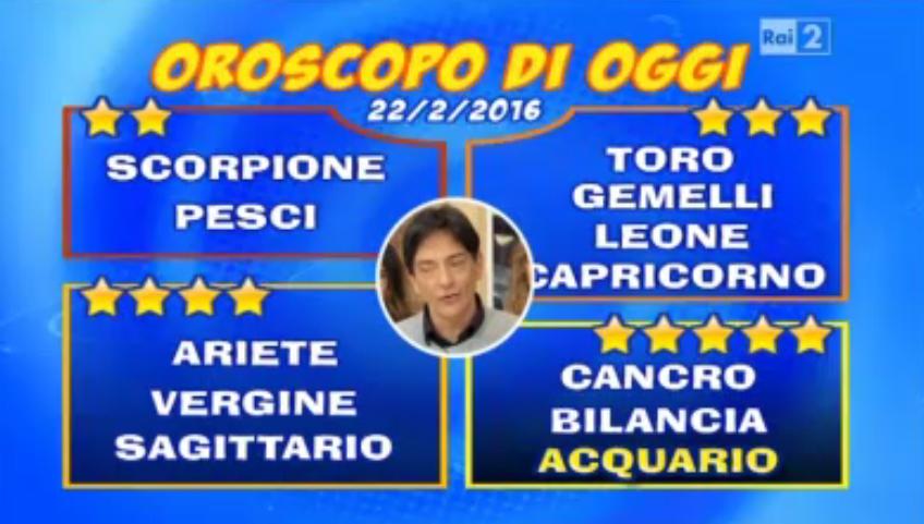 Oroscopo 22 febbraio 2016