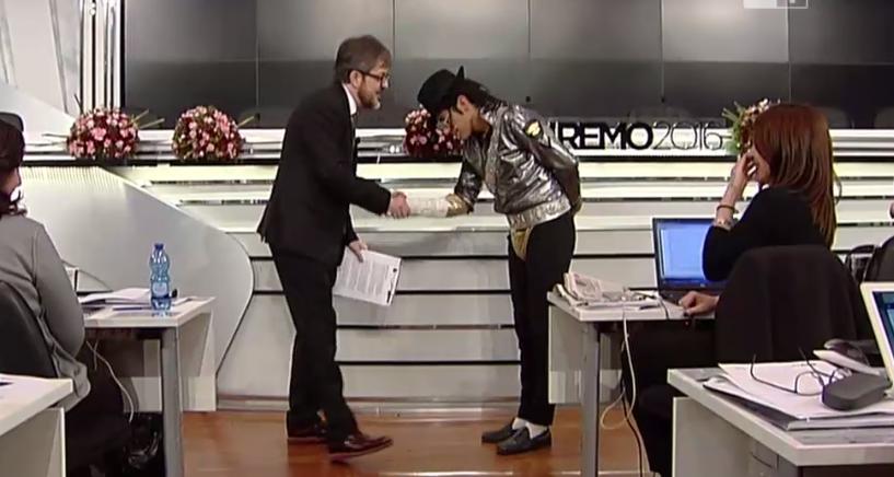 Rocco Tanica e il (finto) Michael Jackson