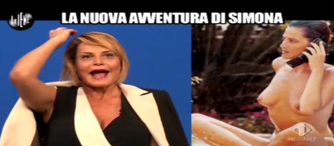 Simona Ventura, vestita e senza veli