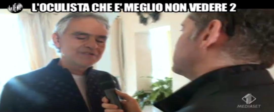 Andrea Bocelli sul caso dell'oculista