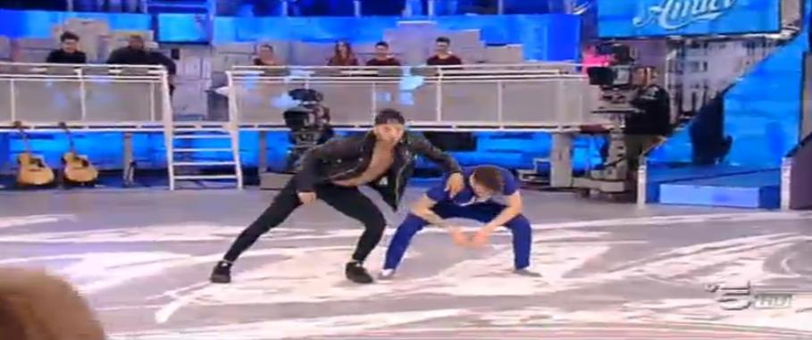 Andreas balla con Giuseppe Giofrè