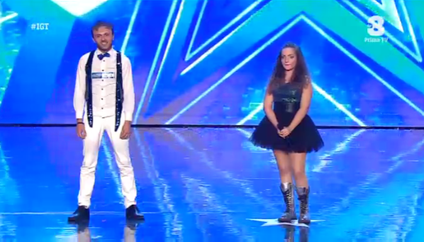 Anthony Festa e Giulia a Italia's got talent