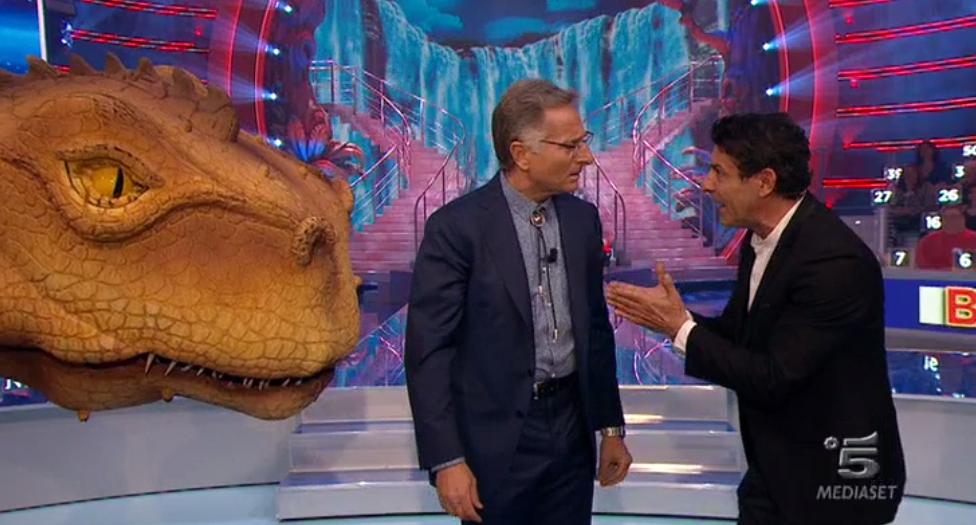 Bonolis, Laurenti e il dinosauro Dino
