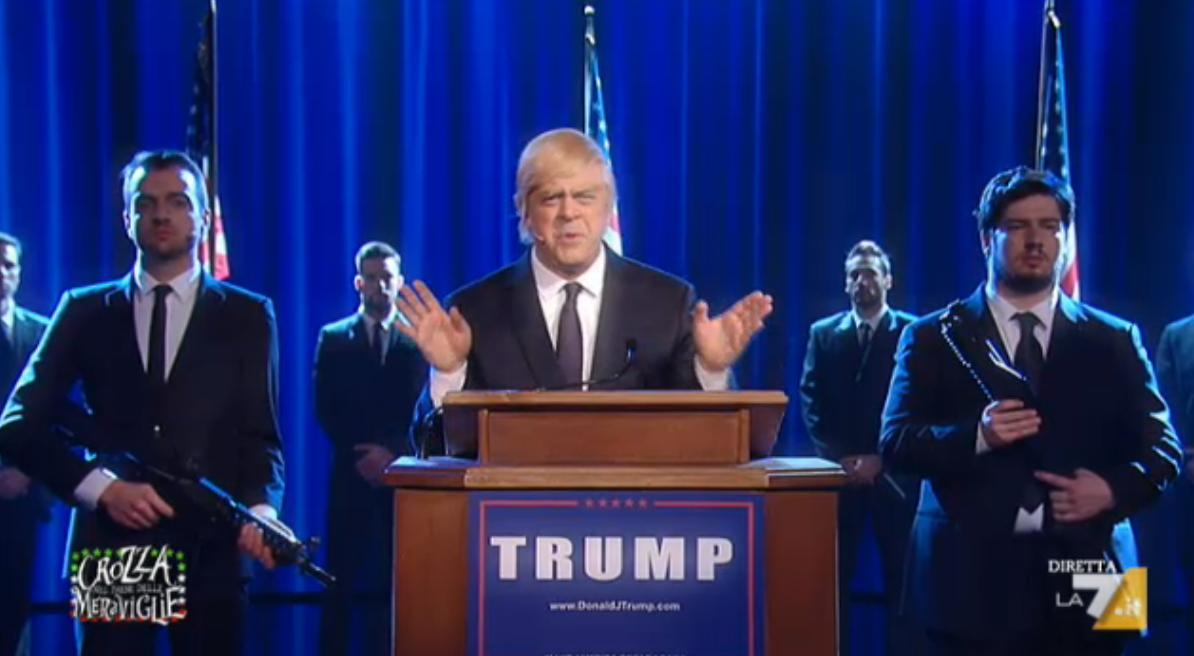Crozza imita Trump