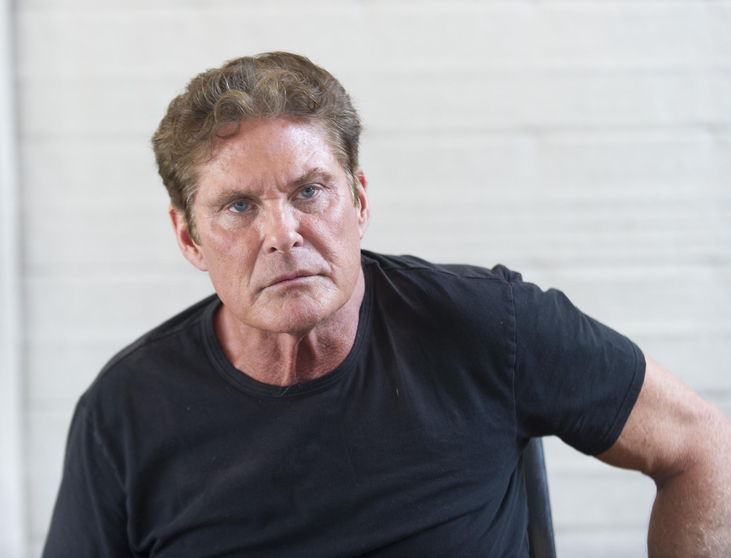 David Hasselhoff ritratti dei protagonisti in conferenza stampa