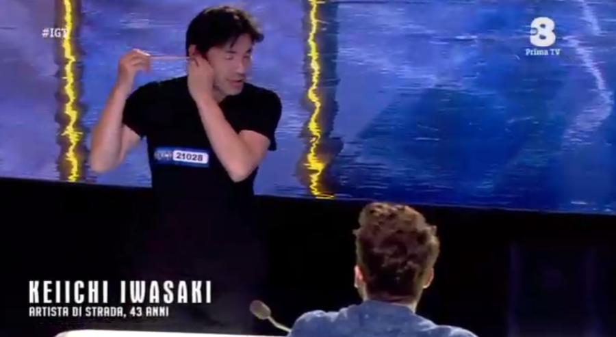 Keiichi Iwasaki a Italia's got talent 2016