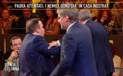 Quinta Colonna: lite tra Luca Telese e Maurizio Gasparri [VIDEO]