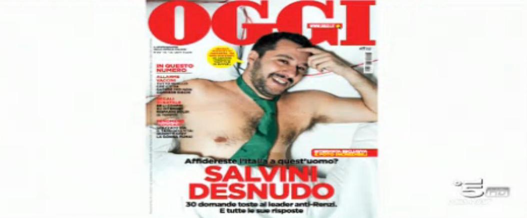 Matteo Salvini, la foto a C'è posta per te