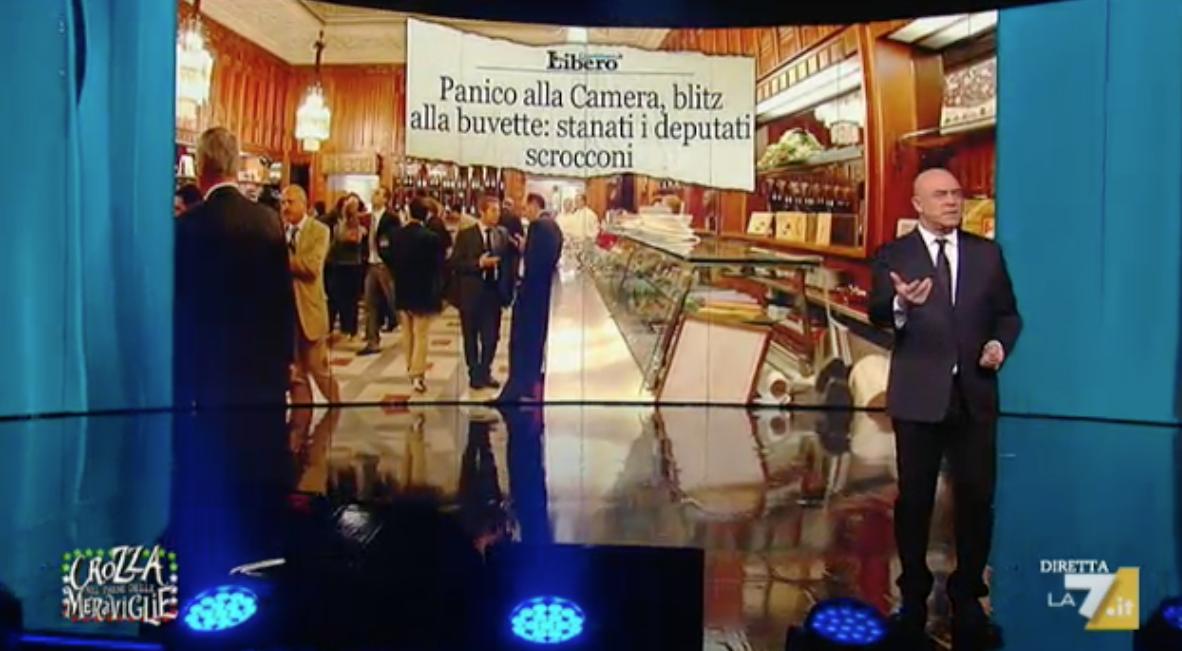 Maurizio Crozza nella seconda puntata del 4 marzo 2016