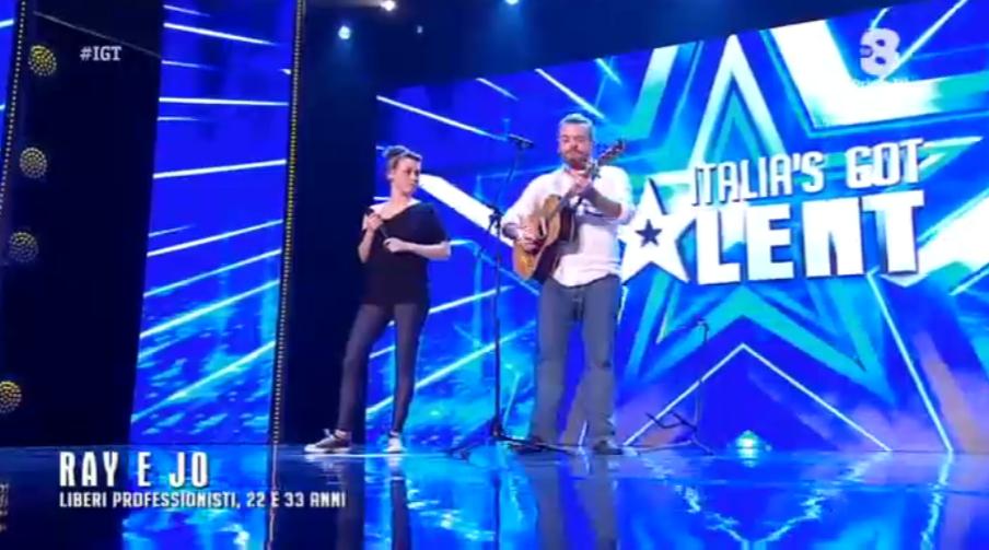 Ray e Jo a Italia's got talent