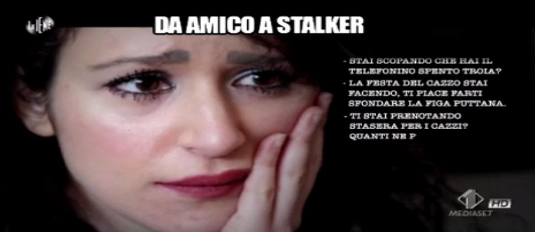 Simona vittima di stalking