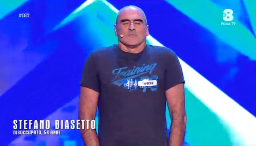 Stefano Biasetto a Italia's got talent
