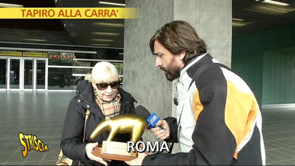Tapiro a Raffaella Carrà