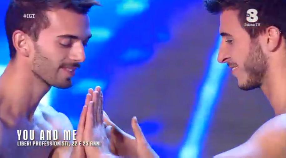 Umberto e Roberto ballano a Italia's got talent