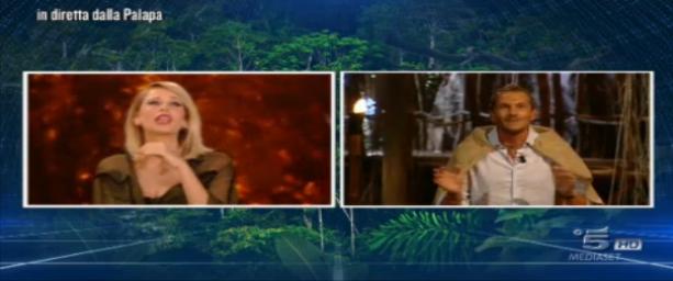 Alvin e Alessia Marcuzzi, collegamento della sesta puntata