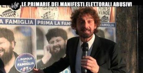 Filippo Roma e i manifesti elettorali abusivi