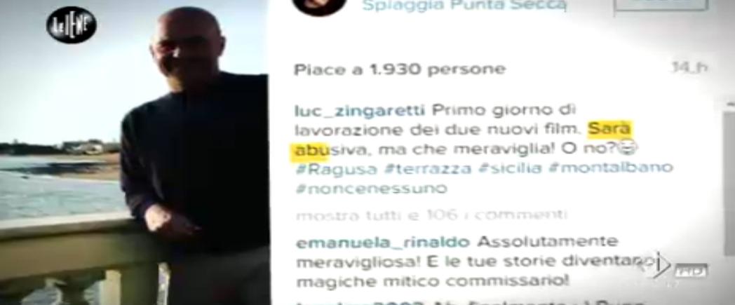 Le Iene, il commento di Luca Zingaretti sulla terrazza