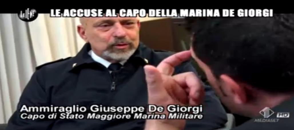 Luigi Pelazza, le accuse al capo della Marina De Giorgi