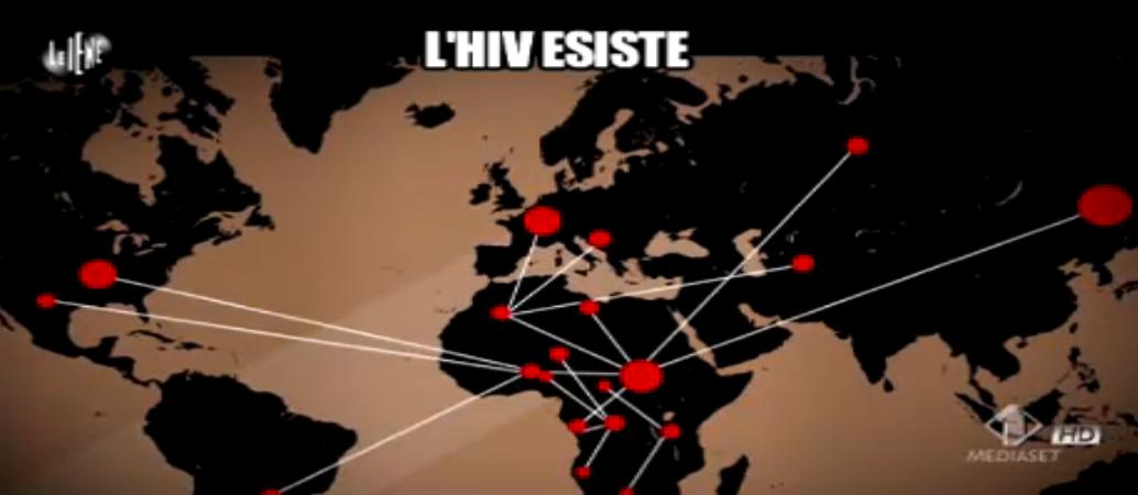Nadia Toffa, mappa diffusione virus Hiv