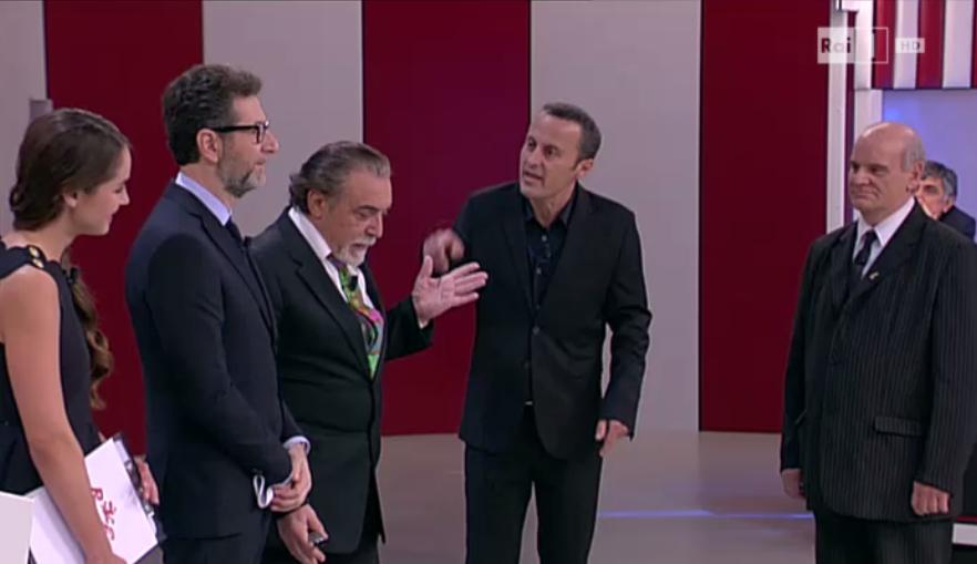 Nino Frassica porta la risata al Rischiatutto di Fazio