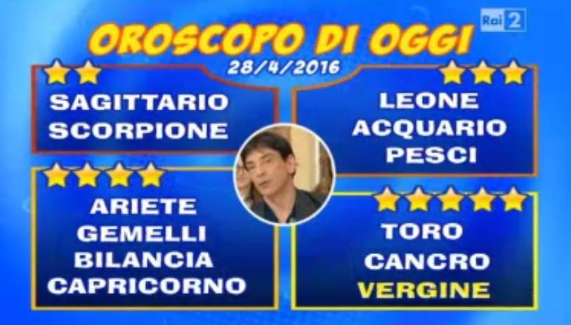 Oroscopo 28 04 2016