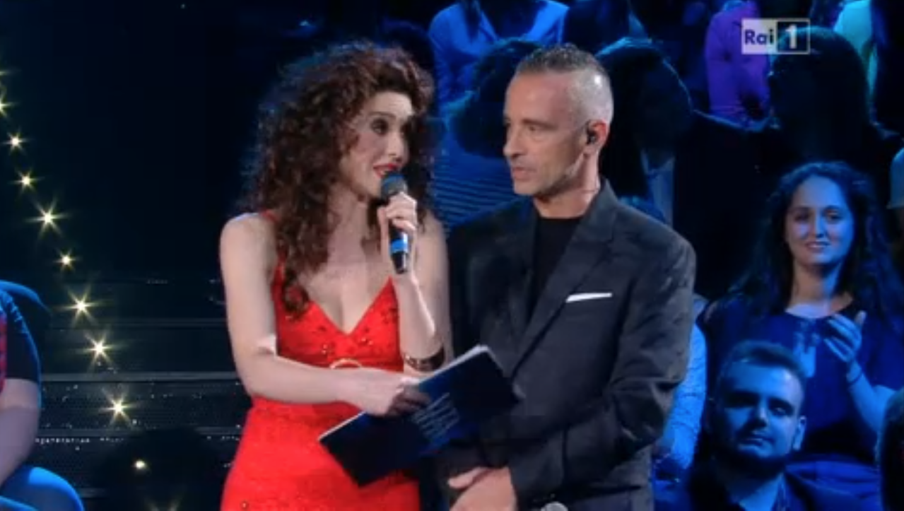 Paola Cortellesi con Eros Ramazzotti