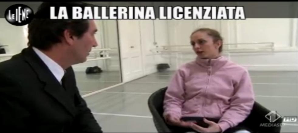 Paolo Calabresi, ballerina licenziata