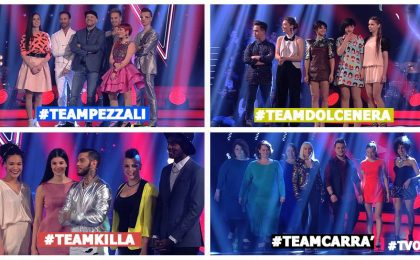 The Voice 2016, finalisti: i 4 team