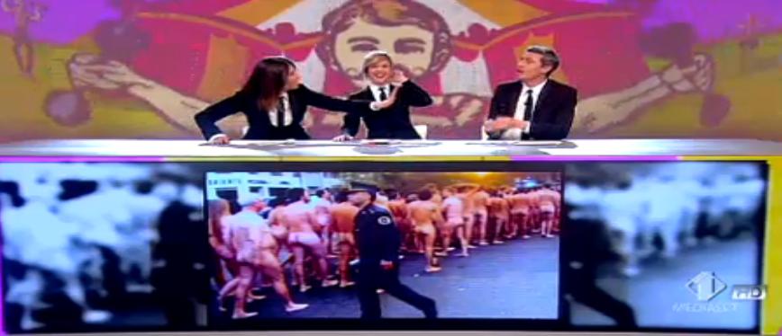 13 Pif, battuta sui nudisti a Le Iene, non cominciate a spingere