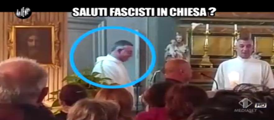 32 Dino Giarrusso, il dubbio dei saluti fascisti in chiesa