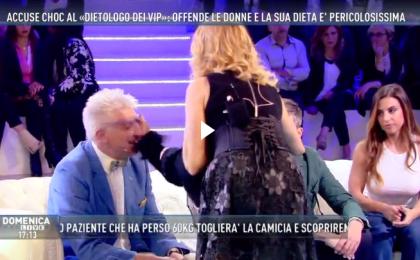 Domenica Live, Alberico Lemme preso a schiaffi in diretta tv: la sua 'dieta' fa arrabbiare gli ospiti